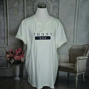 Tommy Hilfiger Woman Plus Size Graphic Tee Size 1X